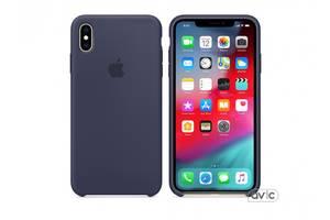 Чехол для Apple iPhone XS Max Silicone Case Midnight Blue (MRWG2)