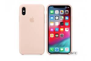 Чехол для Apple iPhone XS Silicone Case Pink Sand (MTF82)