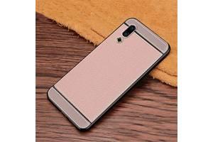 Чехол Litchi для Meizu 16S Pro силикон бампер с рифленой текстурой светло-розовый
