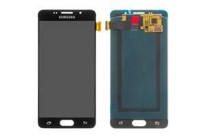 Дисплей (LCD) Samsung A510 Galaxy A5 (2016) (OLED) с сенсором черный