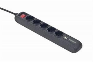 Фильтр питания EnerGenie (SPG5-U2-5) 5 розеток, 2хUSB, 1.5 м, черный
