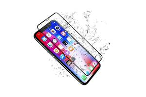 Гнщееся Защитное 5D cтекло Flexible для Apple iPhone XR Черный|Полное покрытие|айфон Хр