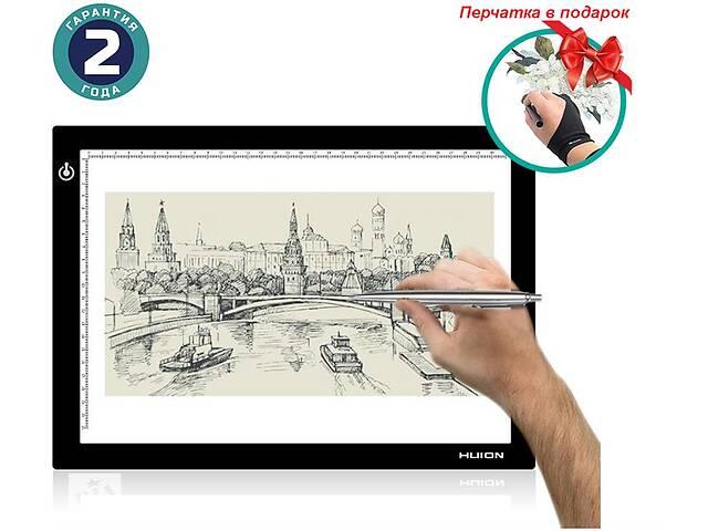 Графический планшет (светокопировальный) Huion L4S + перчатка- объявление о продаже  в Харькове