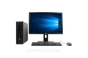 HP 800 G1 SFF 4x ЯДЕРНЫЙ CORE I5 4570 8GB DDR3 500GB HDD + 24'' Dell U2412