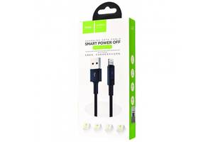Кабель Hoco U47 Essence Core Power Off Lightning Cable Black