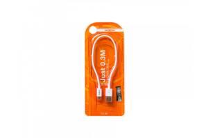 Кабель (провод) для зарядки смартфона/телефона USB MOXOM CC 50 micro USB 30 см Белый