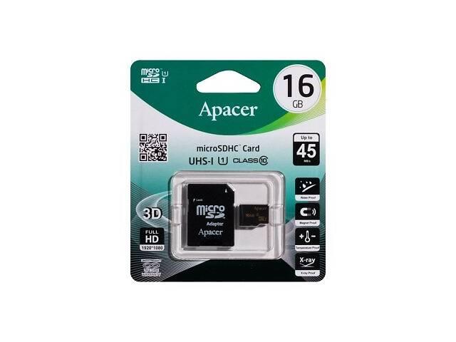 продам Карта памяти Apacer MicroSDHC 16gb 10 class SKL11-232613 бу в Киеве