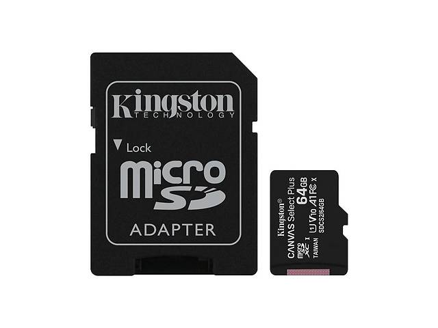продам Карта памяти MicroSDXC  64GB UHS-I Class 10 Kingston Canvas Select Plus R100MB/s + SD-адаптер (SDCS2/64GB) бу в Харькове