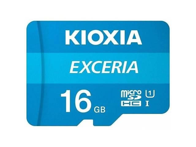 купить бу Карта памяти Kioxia Exceria microSDHC 16GB Class 10 UHS I + ad (Код товара:16274) в Харькове