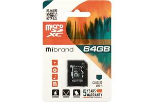 Карта памяти Mibrand 64GB microSDXC class 10 UHS-I (MICDXU1/64GB-A)