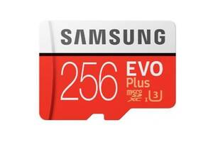 Карта памяти Samsung 256GB microSDXC class 10 UHS-I U1 Evo Plus V2 (MB-MC256HA/RU)