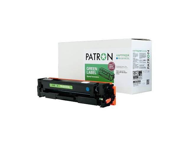 купить бу Картридж PATRON HP CLJ CF401X для M252/M274/M277 Cyan, GREEN Label (PN-201XCGL) в Харькове
