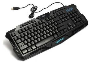 Клавиатура проводная игровая LED Keyboard M200 с подсветкой Черная (gr_009923)