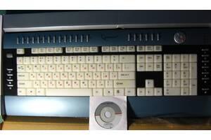 клавиатура слим белая мультимедийная с подсветкой юсб, новая, торг