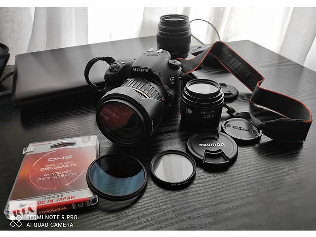 бу Комплект Sony a58 + tamron 17-50 f/2.8 + minolta 50 f/1.7 + kit 18-55 в Днепре (Днепропетровск)