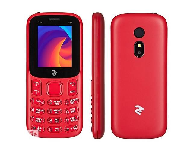 бу Мобильный телефон 2E E180 2019 Dual Sim Red (680576170057); 1.77 (160х128) TN / кнопочный моноблок / ОЗУ 32 МБ / 32 М... в Харькове