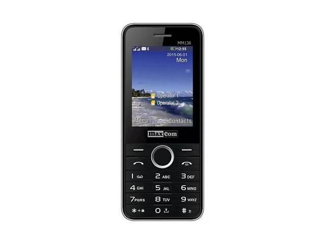 продам Мобильный телефон Maxcom MM136 Black-SIlver (5908235973524) бу в Харькове
