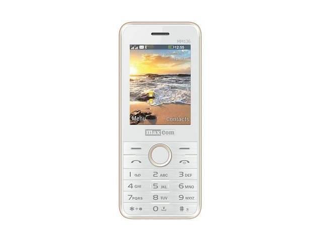 Мобильный телефон Maxcom MM136 White-Gold (5908235973500)- объявление о продаже  в Харькове