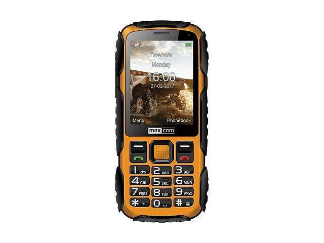 купить бу Мобильный телефон Maxcom MM920 Black Yellow (5908235974019) в Харькове