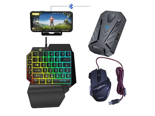 купить бу Мобильный игровой Bluetooth адаптер с аккумулятором, игровой клавиатурой и мышкой Union Sundy PUBG Mobile Mix2 в Одессе