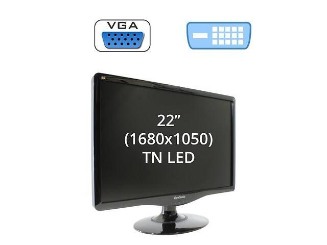 """бу Монитор ViewSonic VA2232w / 22"""" (1680x1050) TN LED / 1x DVI-D, 1x VGA в Києві"""