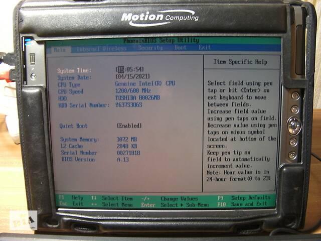 """купить бу Motion Computing LE1700 Сенсорный 12.1"""" 1400х1050 IPS LCD Intel U1400 1.20ГГц 2ГБ/80ГБ 3G Модем+Стилус+Сумка+Батарея США в Киеве"""