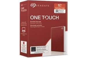 Накопитель внешний HDD 2.5 USB 1.0TB Seagate One Touch Red (STKB1000403)