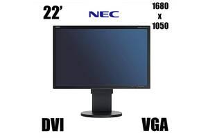 NEC EA221WMe / 22' / 1680x1050 (16:10) / DVI, VGA, USB / встроенные колонки