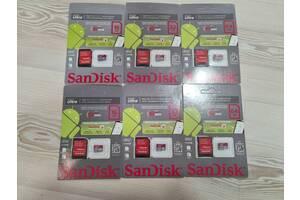 Оригинальные карты памяти SanDisk Ultra micro  sd 16/32/64 10 класса