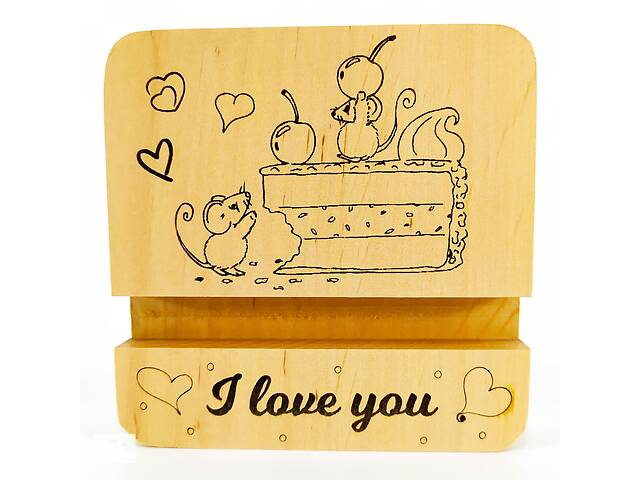 Подставка держатель для мобильного телефона смартфона планшета мышки на торте i love you Мастерская мистера Томаса 10...- объявление о продаже  в Виннице