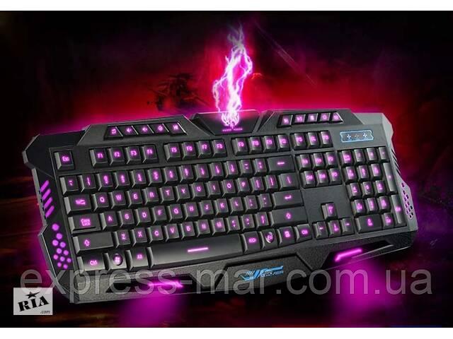 купить бу Профессиональная игровая радио клавиатура с подсветкой М200 в Харькове