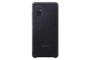 Samsung Silicone Cover для  Galaxy A71 (A715F)%5bBlack ()%5d SmsngEF-PA715TBEGRU