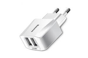 Сетевое зарядное устройство Baseus Mini Dual 2USB White