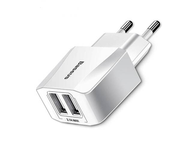 Сетевое зарядное устройство Baseus Mini Dual 2USB White- объявление о продаже  в Запорожье