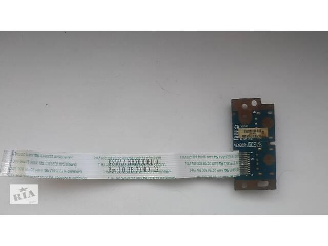 купить бу Шлейф, плата USB разъемов для ноутбука Toshiba KSWAA - NBX0000EL00 в Львове