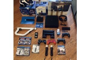 Sony PlayStation 4 Pro 1TB, VR очки, kinetic, игры