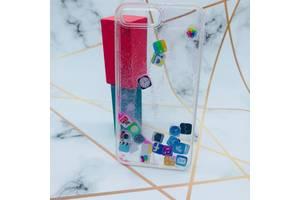 Силиконовый прозрачный чехол с плавающими иконками приложений для Apple iPhone 7 Plus, iPhone 8 Plus Розовый