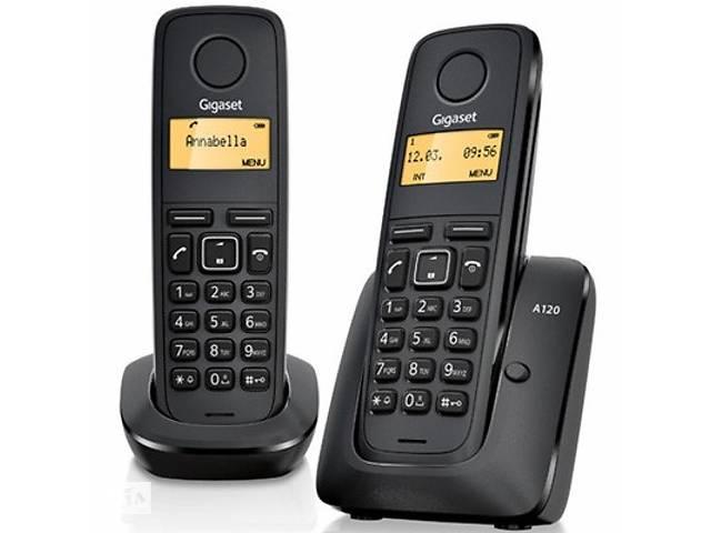 купить бу Телефон DECT Gigaset A120 DUO Black (L36852H2401S301) в Харькове