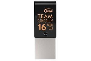 USB флеш накопитель Team 16GB M181 Black USB 3.1/Type-C (TM181316GB01)