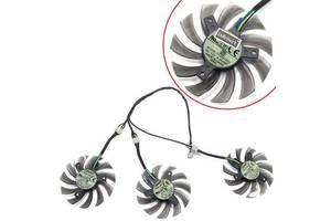 Вентилятори 3шт 75мм 12В 4пин T128010SU для GTX 980 1060 1070 G1 1080