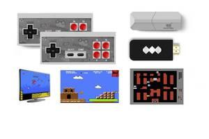 Игровая беспроводная консоль выход AV Dendy 8бит 600 игр Data Frog