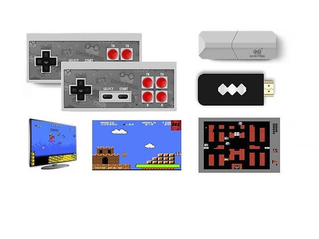 бу Игровая беспроводная консоль выход AV Dendy 8бит 600 игр Data Frog в Полтаве