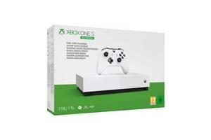 Игровая приставка Microsoft Xbox One S 1Tb White All-Digital Edition + Assassin's Creed Unity