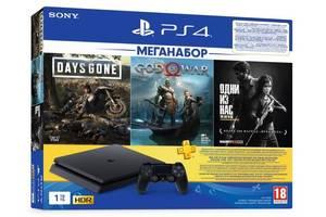 Игровая приставка PlayStation 4 Slim 1Tb (Days Gone + God Of War + TheLastofUs + PSPlus 3M) (9382102)