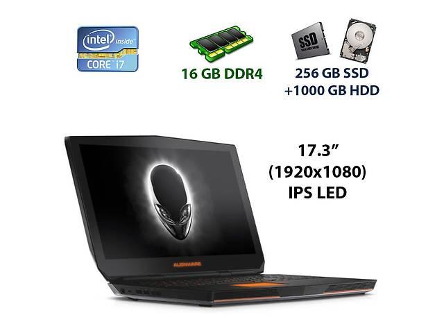 "купить бу Игровой ноутбук Dell AlienWare 17 R3 / 17.3"" (1920x1080) IPS LED / Intel Core i7-6700HQ (4 (8) ядра по 2.6 - 3.5 GHz)... в Киеве"