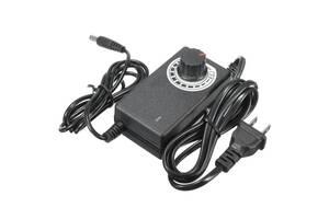 Импульсный адаптер питания 3-24В 1А с регулировкой