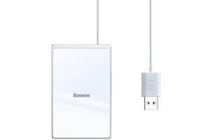 Бездротовий зарядний пристрій Baseus Card Ultra-thin White-Silver