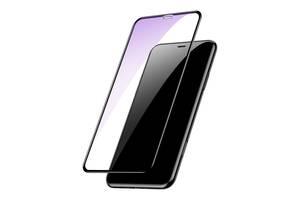 Захисне скло Baseus 0.2mm Arc-Surface для iPhone XS Max 11 Pro Max/XS Max Black (SGAPIPH65-HE01)
