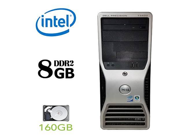 купить бу DELL Precision t3400 / Intel Pentium Dual-Core E6600 (2 ядра по 3.06GHz) / 8GB DDR2 / 160GB HDD / БП 375W+ ATI HD2400 XT в Киеве