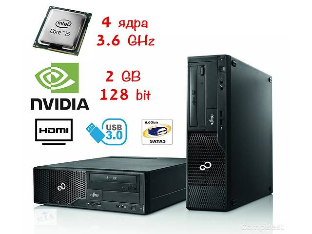 продам FSC Esprimo E510 SFF / Intel Core i5-3470 (4 ядра) / 4 Гб DDR3 / 250 Гб / Nvidia GeForce 730 2 GB бу в Киеве